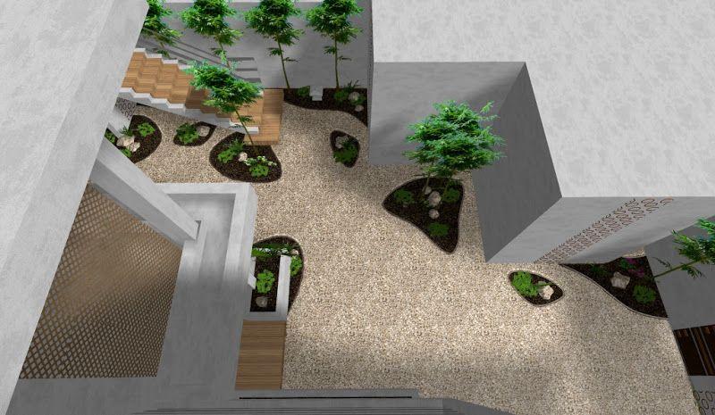 Modelo de jardin urbano minimalista zen vista desde arriba for Idea brisa vista para jardin