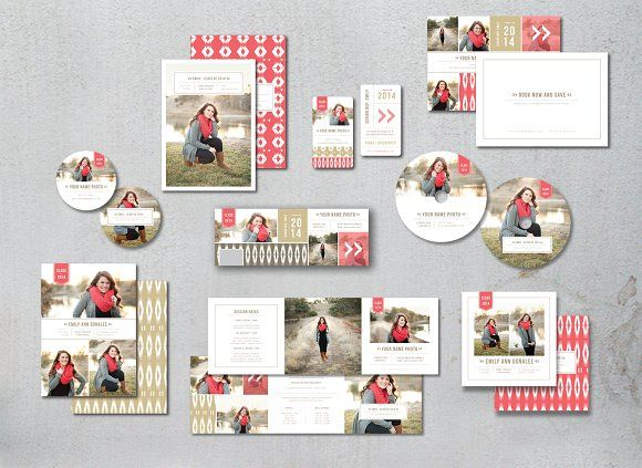 Sale! Senior Photography Templates by Design by Bittersweet on @creativemarket