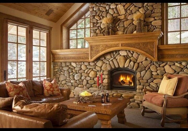 .Love the chunky, comfy furniture and this fireplace is amazing!