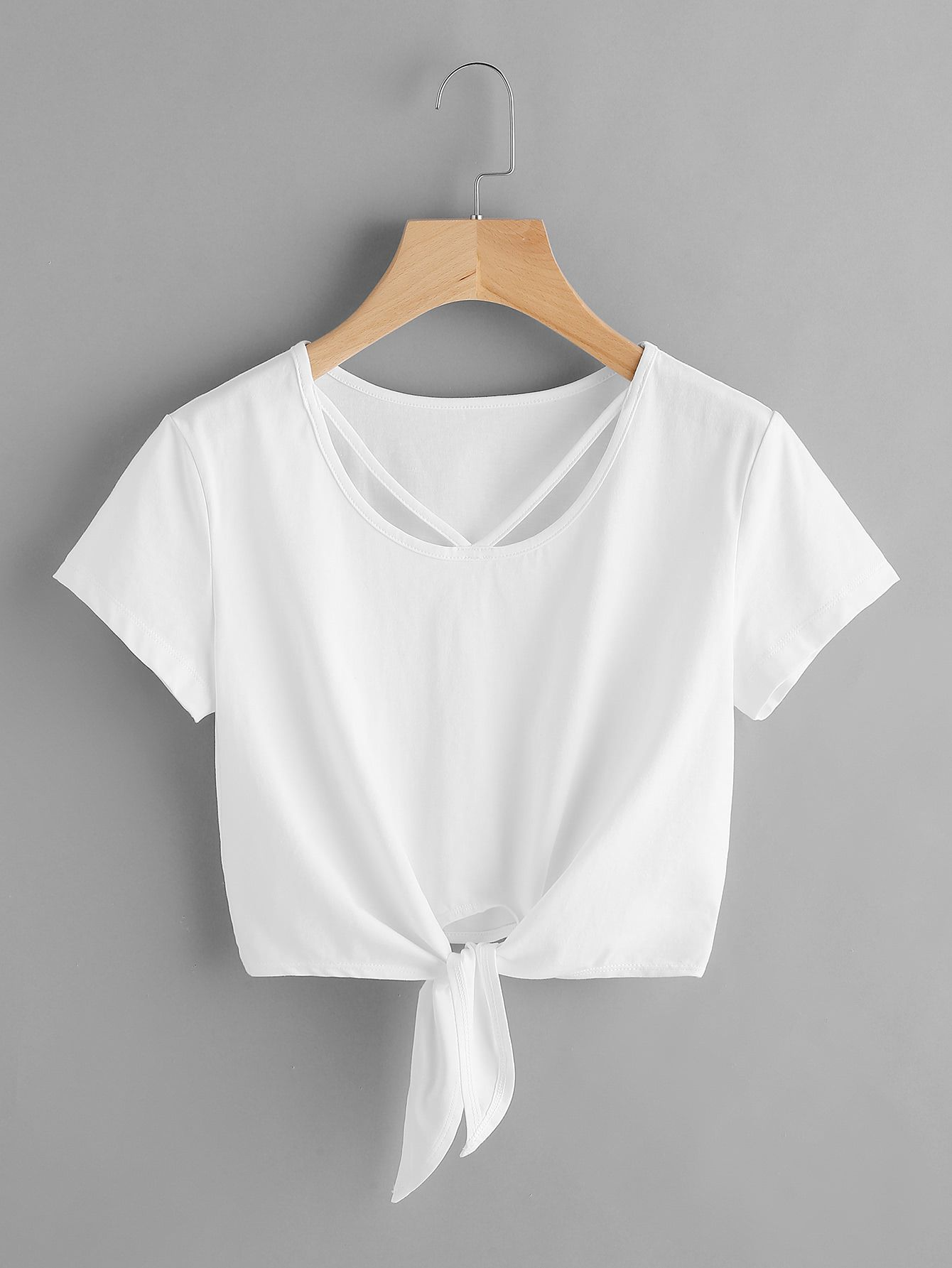 708e42737028a http   m.shein.com us V-Strap-Neck-Knot-Front-Crop-Tee -p-363267-cat-1738.html
