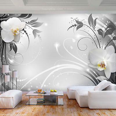 Vlies fototapete 3d effekt blumen tapete schlafzimmer for Wandbilder xxl schlafzimmer