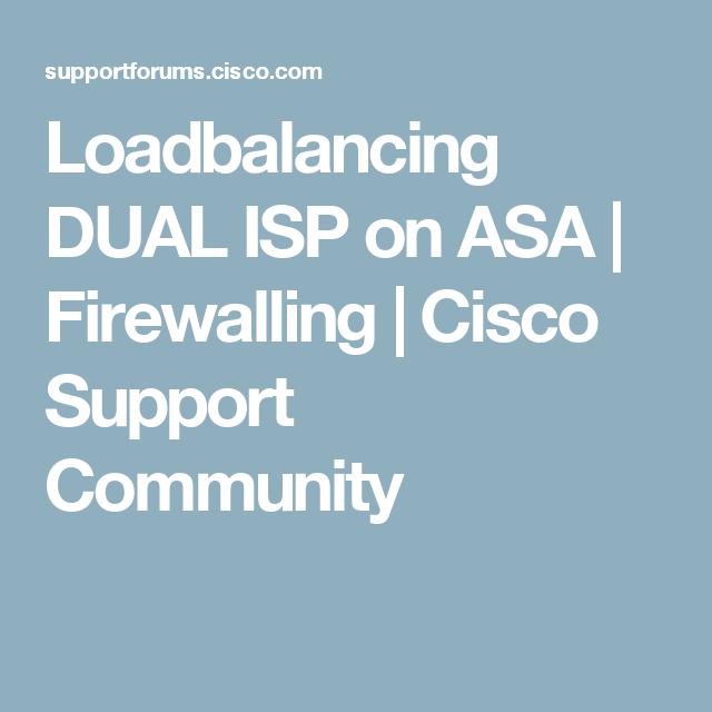 Loadbalancing DUAL ISP on ASA   Networking: 2ISP-2router