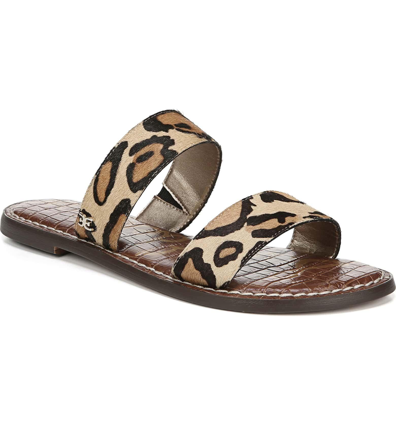 0a23dd25915c Sam Edelman Gala Two Strap Genuine Calf Hair Slide Sandal (Women ...