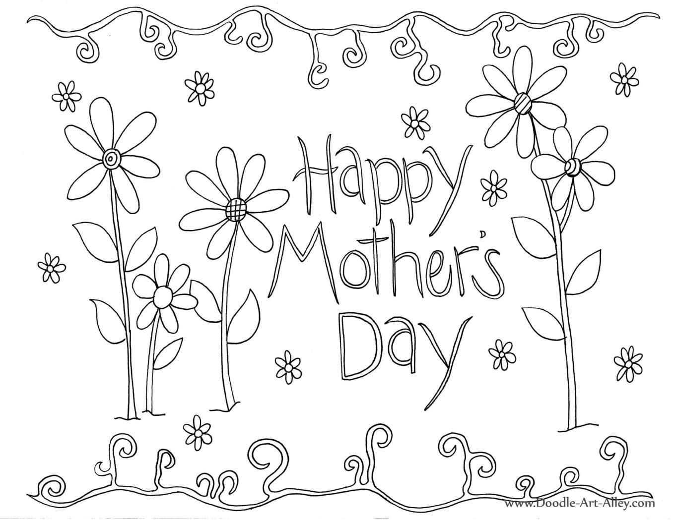 Cute Mother S Day Page To Color