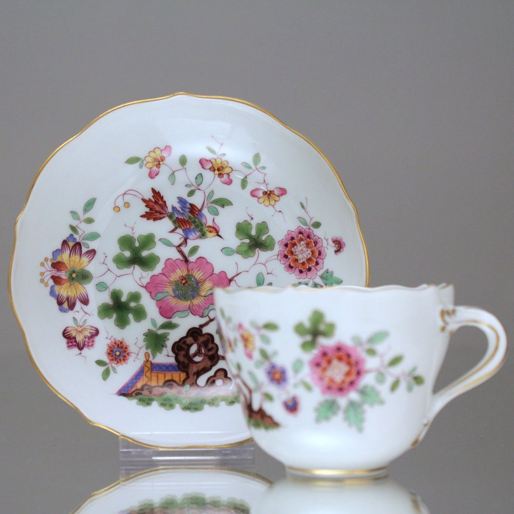 Meissen Keramik: Meissen: Mokkatasse Indische Fels-, Blumen Und