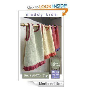 maddy kids Knitting Pattern - ML156 Girls Frillin Top: Maddy Cranley: Amazon.com: Kindle Store