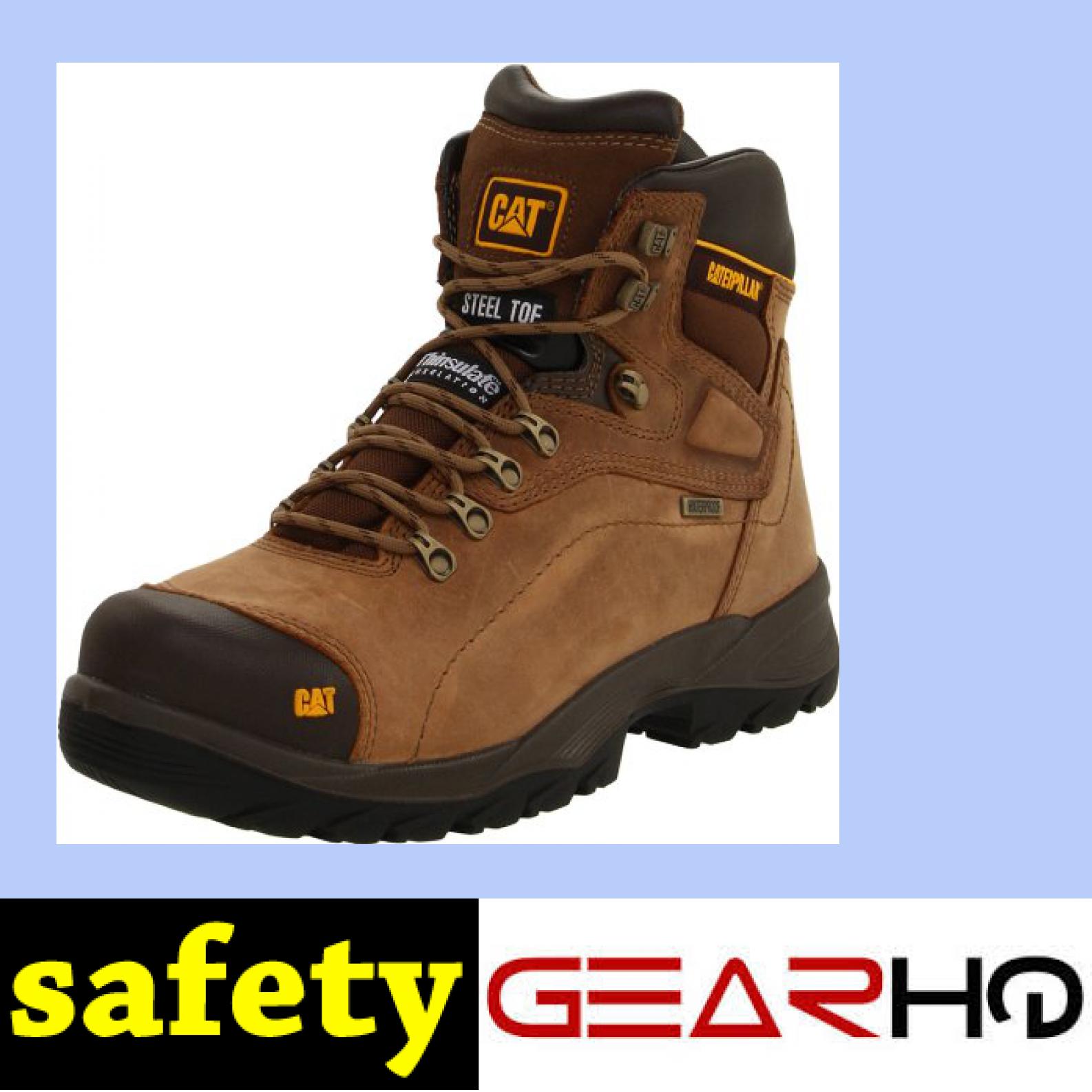 Caterpillar Men's Diagnostic Waterproof SteelToe Work Boot