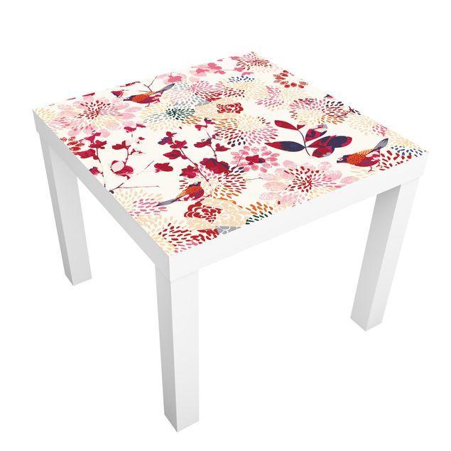 Carta adesiva per mobili IKEA Lack Tavolino Fancy Birds