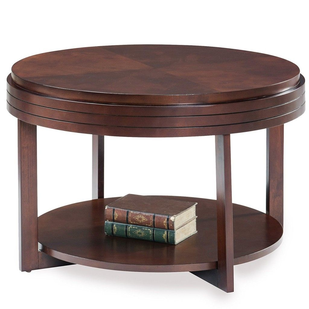 - Round Espresso Coffee Table Coffee Table Wood, Round Wood Coffee
