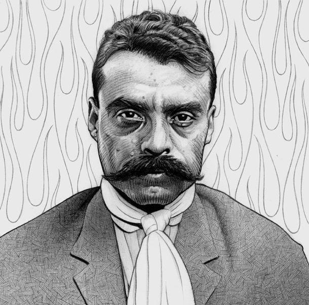 Pancho Villa And His Moustache Revolucion Mexicana Para