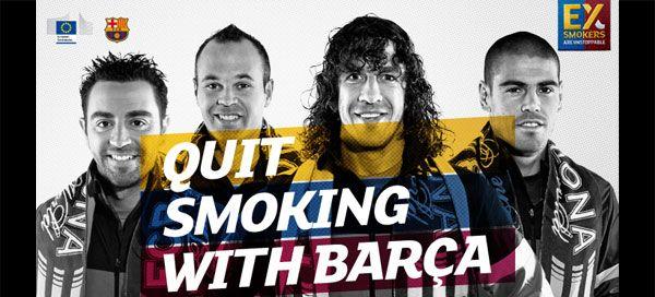 Campanha «Quit Smoking with Barça» vence prémio