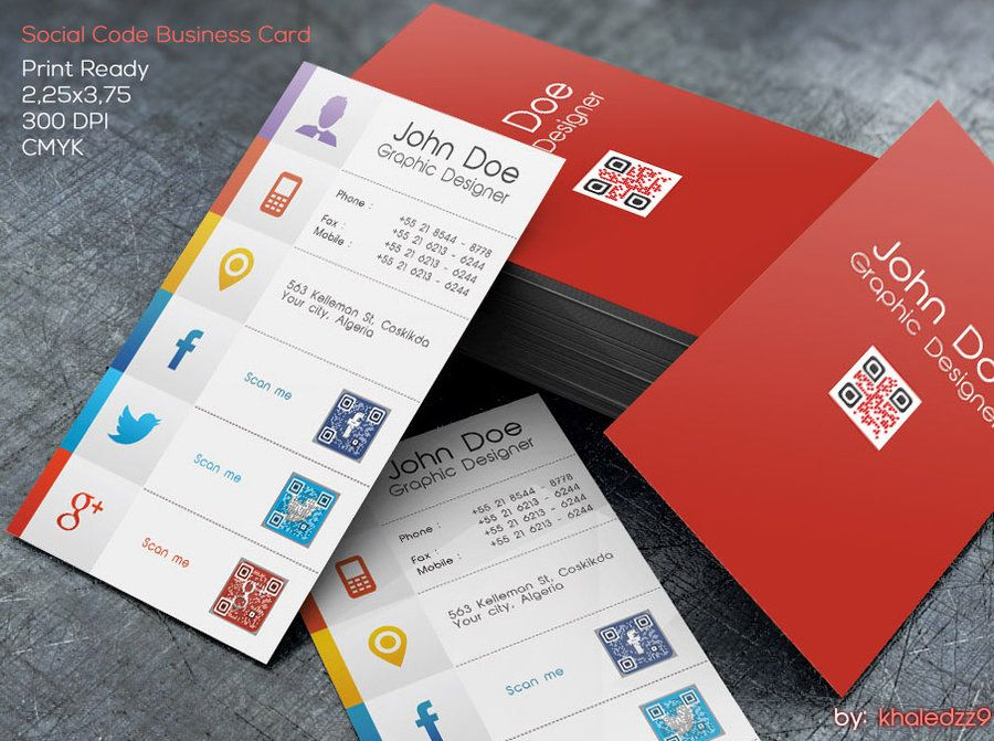 Social code business card by khaledzz9deviantartcom on for Social media business cards template