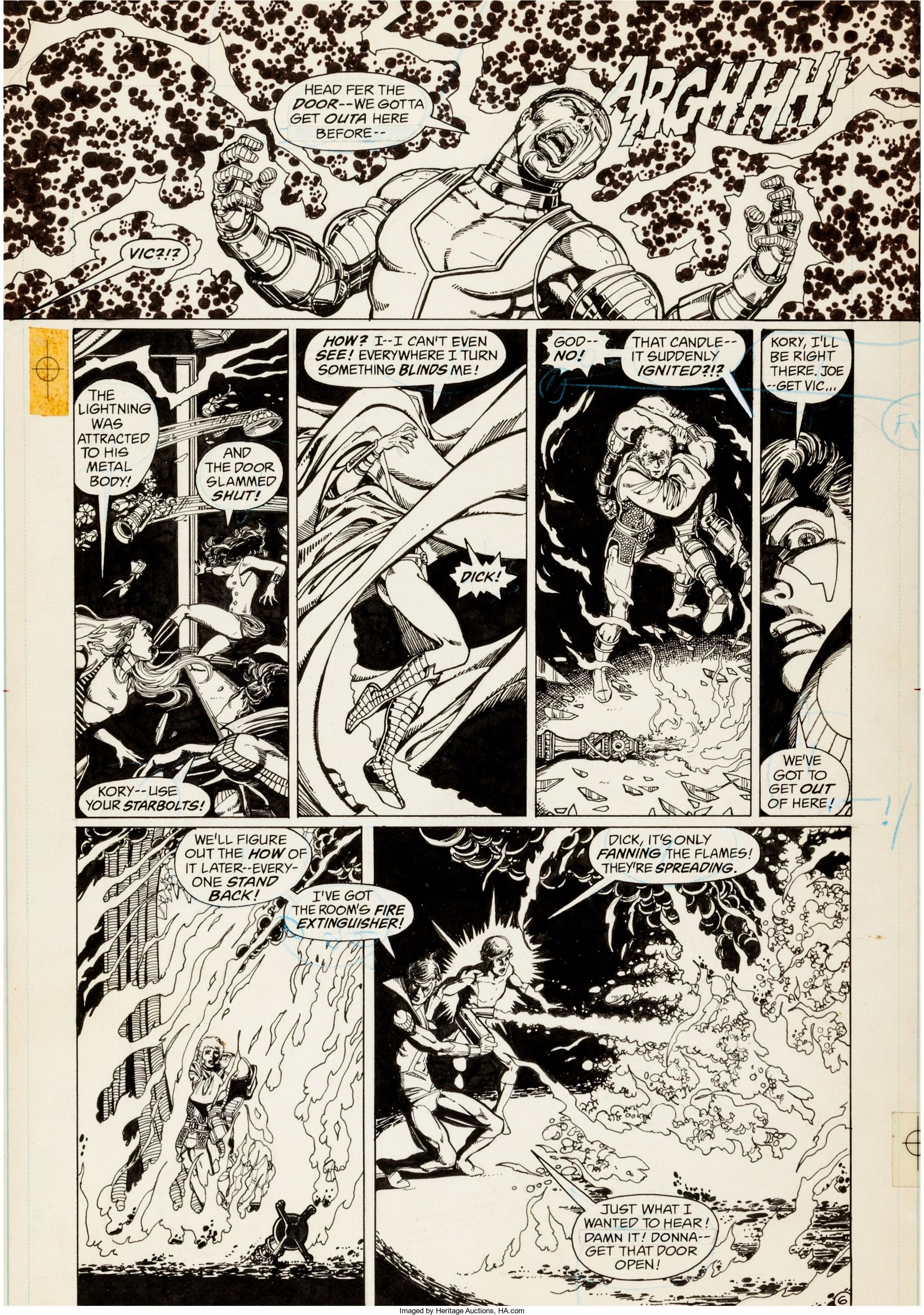 George Perez The New Teen Titans #2 Story Page 6 Original Art (DC ...