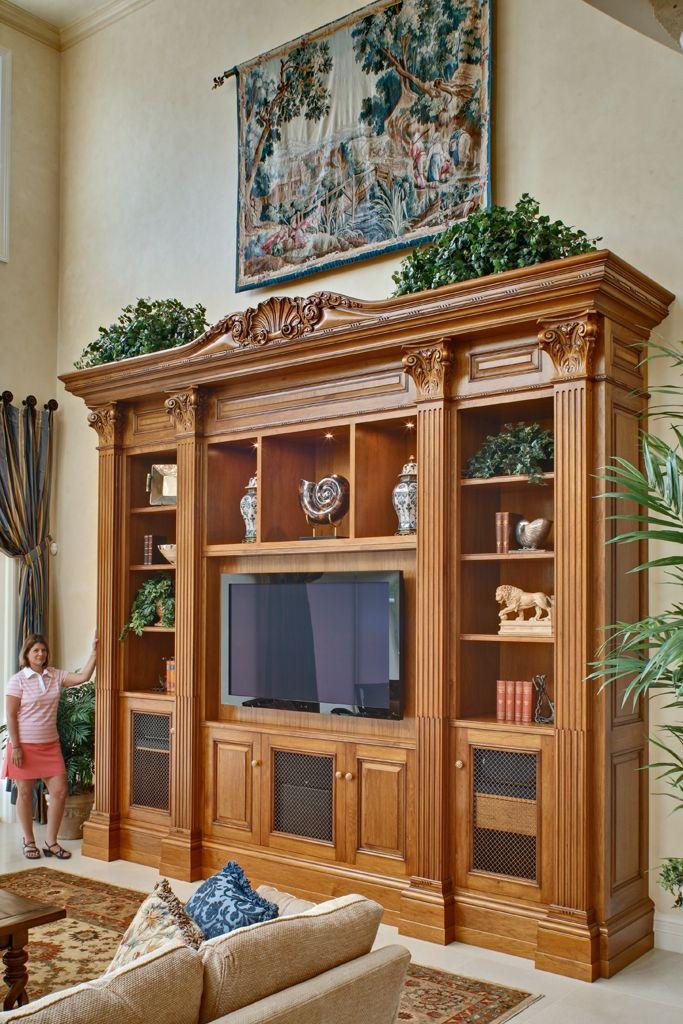 Butternut Entertainment Center Entertaining Decor Tv Cabinet Design Wooden Door Design