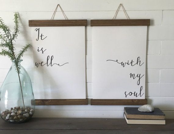 It Is Well With My Soul Canvas Art Print Wall Art Canvas Etsy Wall Prints Wall Art Canvas Prints Calligraphy Wall Art