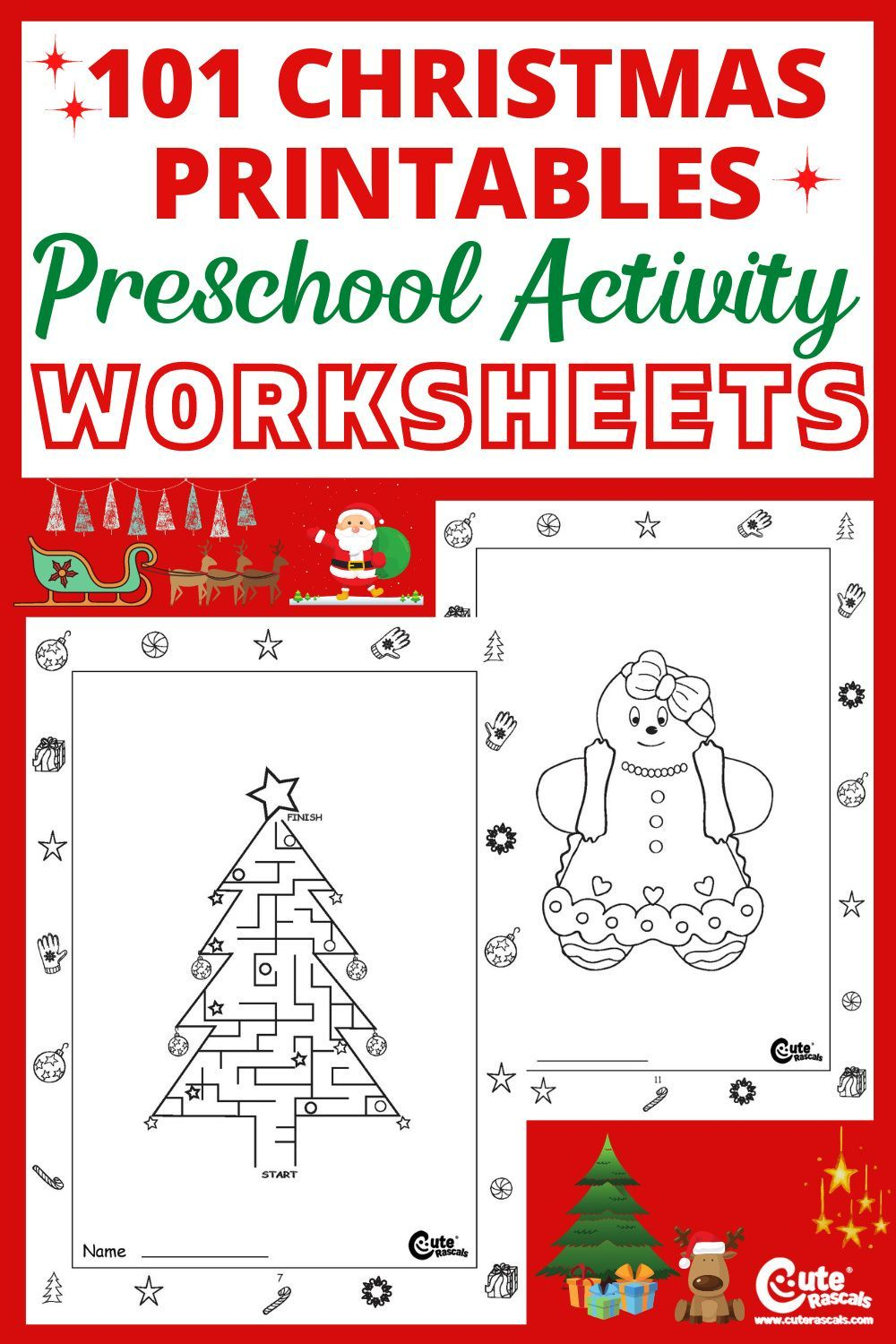 101 Pages Of Fun Free Printable Christmas Activity Worksheets For Preschoolers Christmas Activities Free Christmas Printables Fun Christmas Activities [ 1500 x 1000 Pixel ]