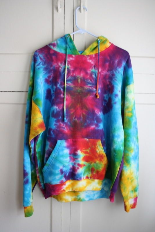 02d7a82ec TIE DYE Hoodie Hooded Sweatshirt Size Large Brand EXIST front Pouch Pocket  #TieDyeClothingCo #Hoodie