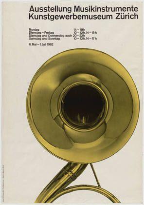 MoMA | The Collection | Richard Paul Lohse. Ausstellung Musikinstrumente Kunstgewerbemuseum Zürich. 1962