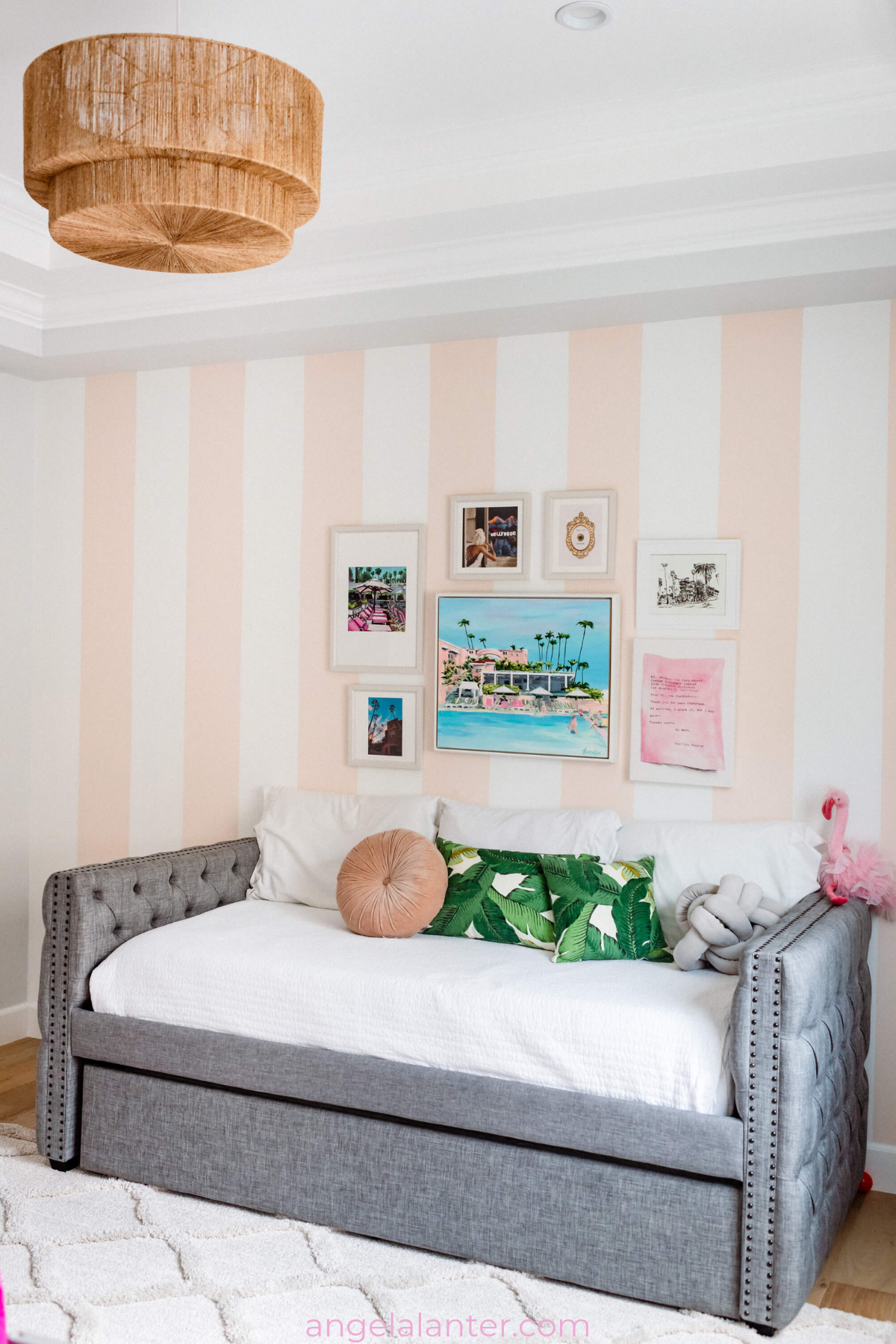 Hotel Room Accessories: Our Beverly Hills Hotel Inspired Playroom Tour