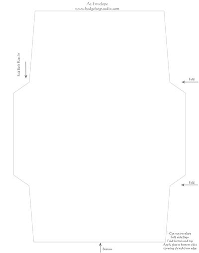 Free A Envelope Template  Paper Crafting    A