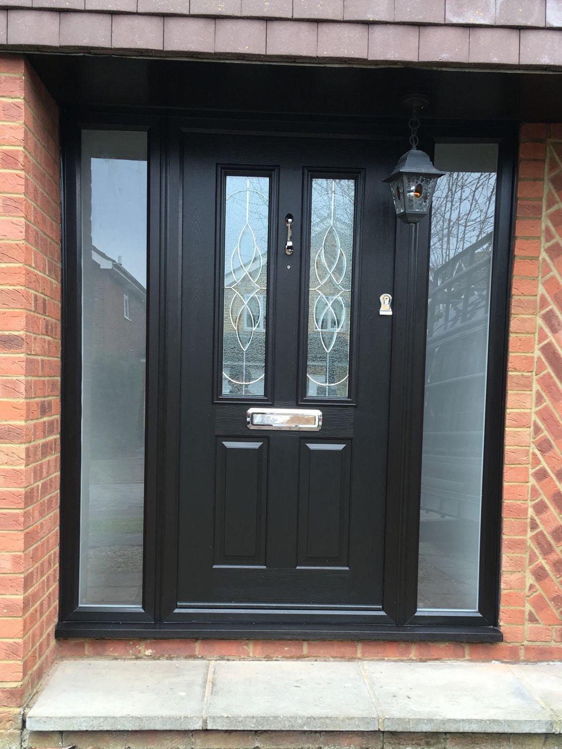 Solidor Front Door With 2 Side Panels Composite Front Doors Uk Front Doors Uk Composite Front Door