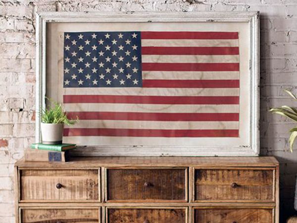 Chest And Flag Personalized Homes Framed American Flag American