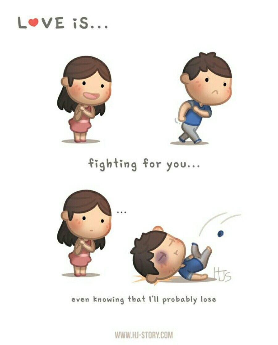 Ya me vi 😂😂  Cartoon love quotes, Cartoons love, Love is cartoon