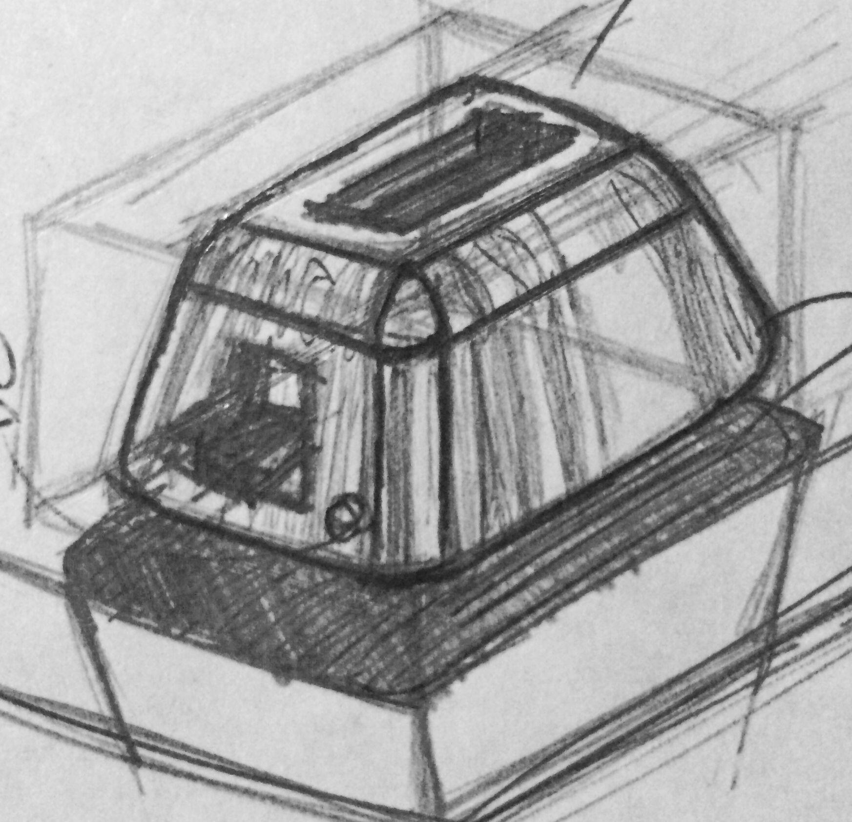 Boceto electrodoméstico. Ahtziri Rodríguez