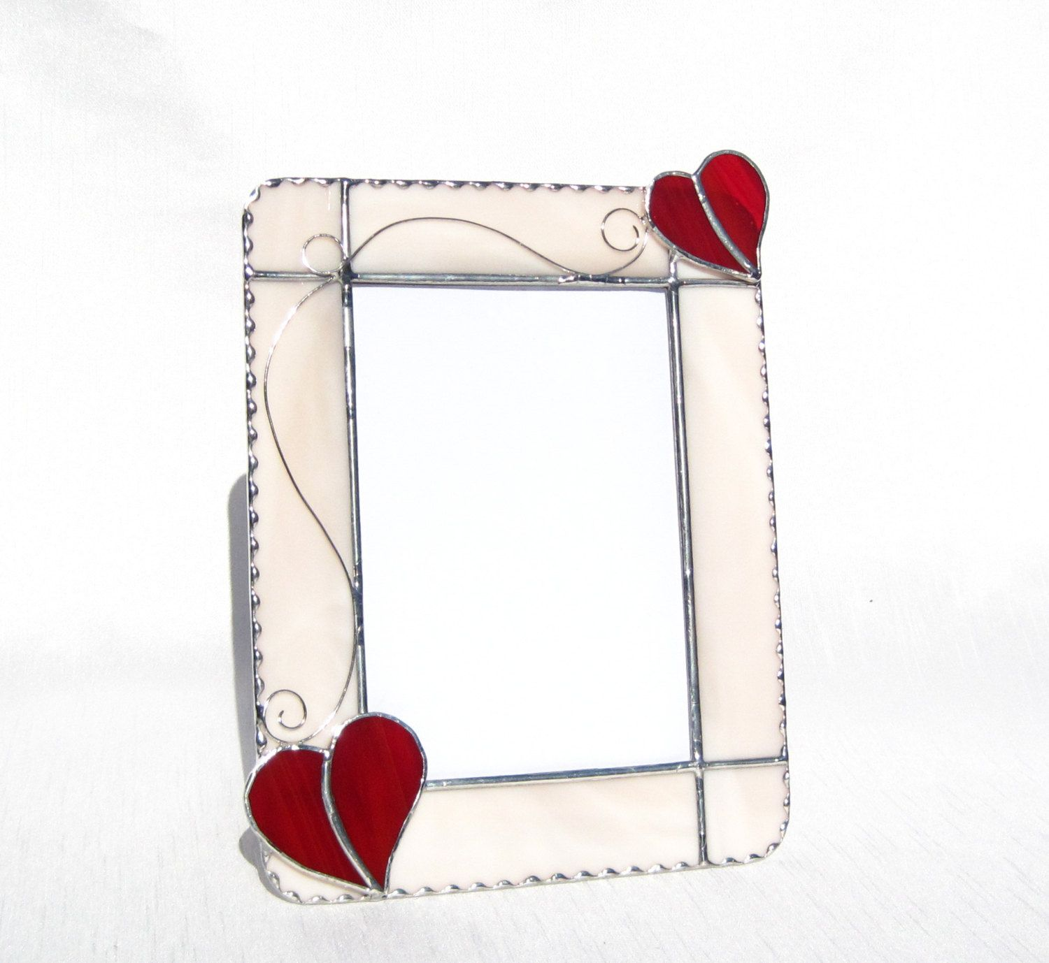 love me tender frame 5 x 7 stained glass frame picture frame heart picture frame glass love frame red heart frame portrait picture frame