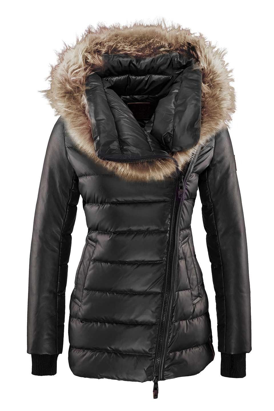 Nicole Benisti Ladies Destiny Promo Down Jacket In Black And Natural Fashion How To Wear Down Jacket [ 1440 x 960 Pixel ]