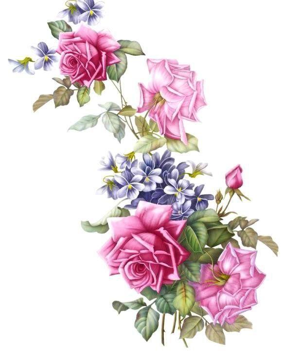 Узор. Розы и фиалки - Схемы вышивки - Алла300550 - Авторы - Портал «Вышивка…