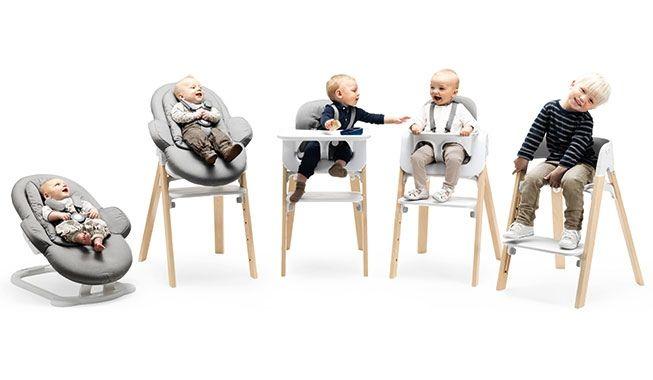 Topp Stokke Steps høj stol, 1.399 kr., bouncer, 1.299 kr., babysæt, 699 IZ-79