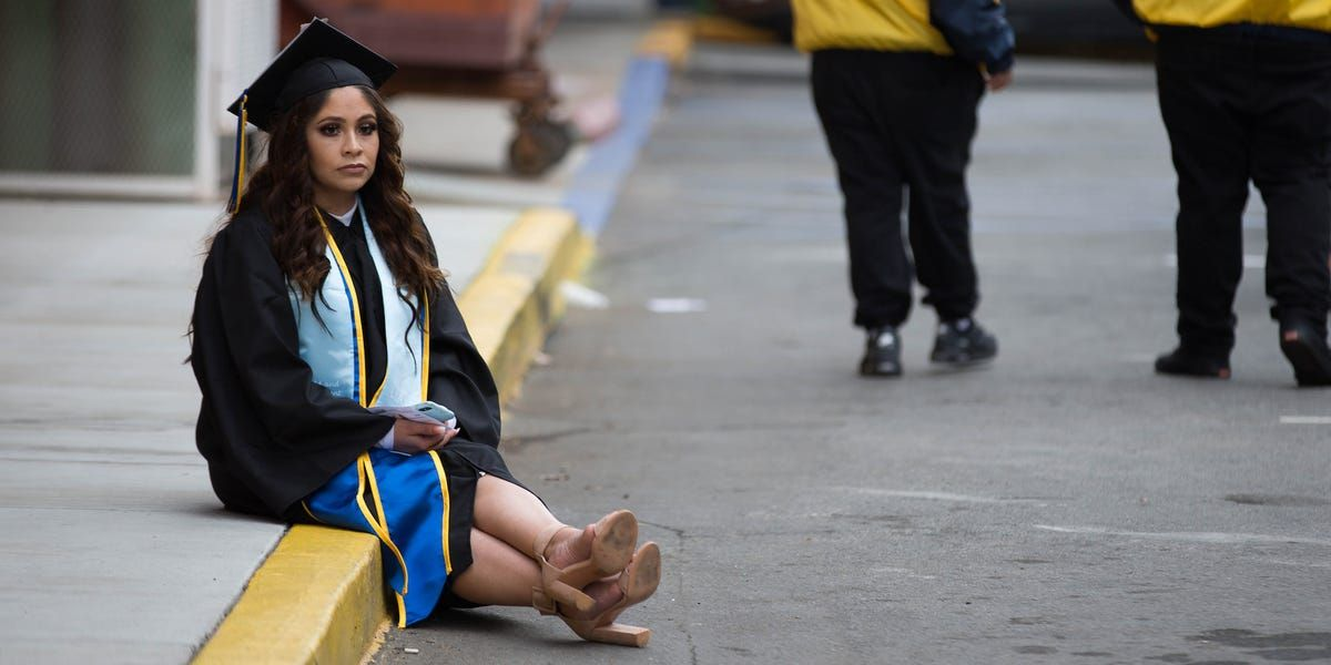 Nearly half of indebted millennials say college wasn't