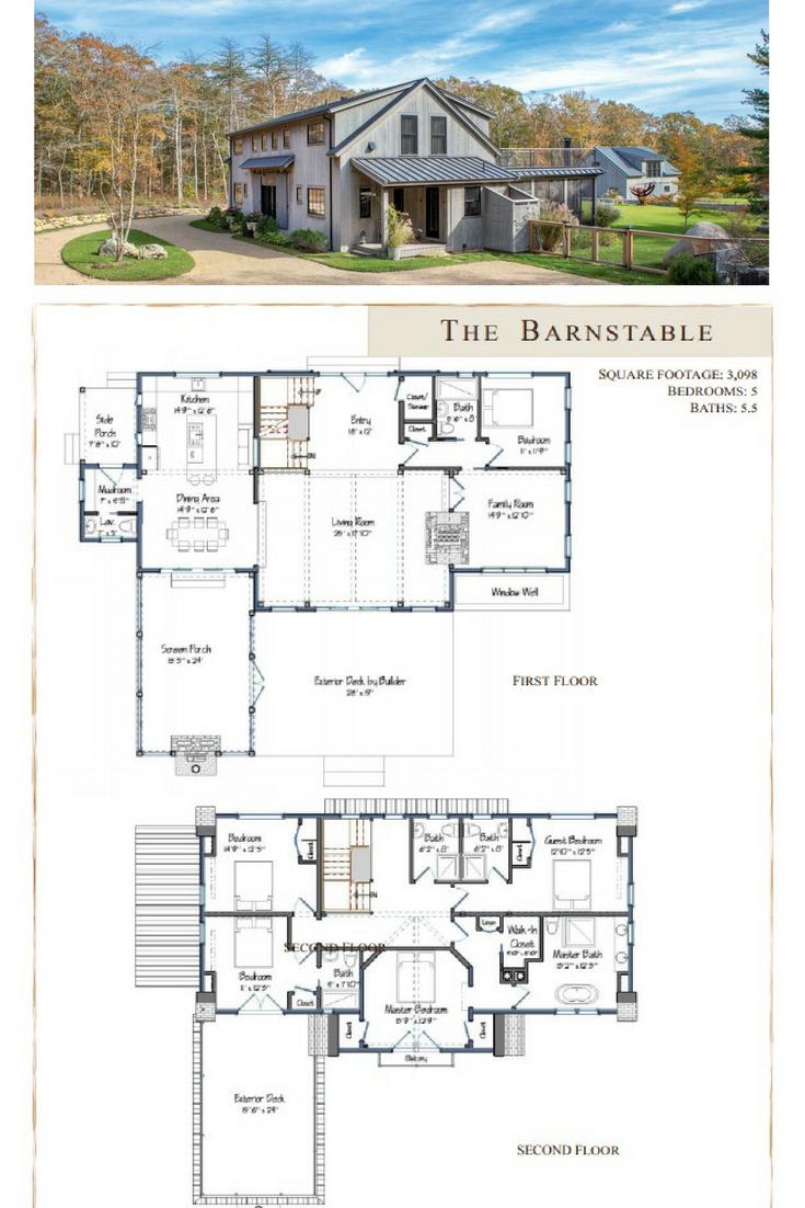 Barnstable Barn House Plans Barn Style House Barn Homes Floor Plans