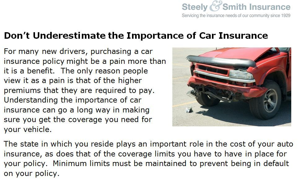 Don T Underestimate The Importance Of Car Insurance Car