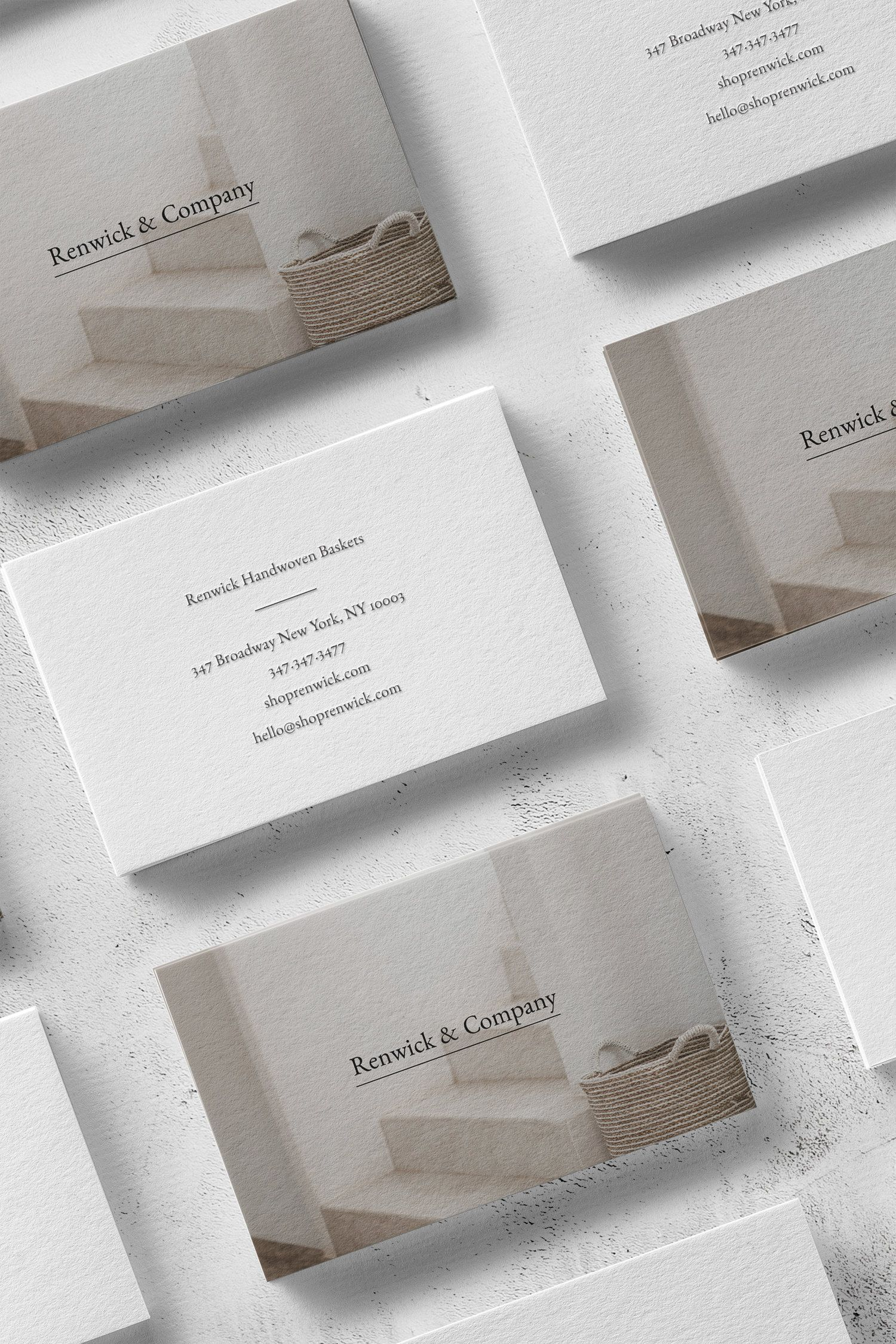Renwick A Classic Business Card Design With Traditional Serif Font The Denizen Co Business Card Design Classic Business Card Classic Business Card Design