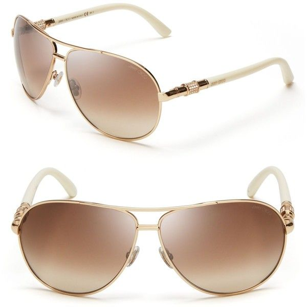 0ed788b7af1f Jimmy Choo Walde Crystal Temple Sunglasses ( 395) ❤ liked on Polyvore  featuring accessories