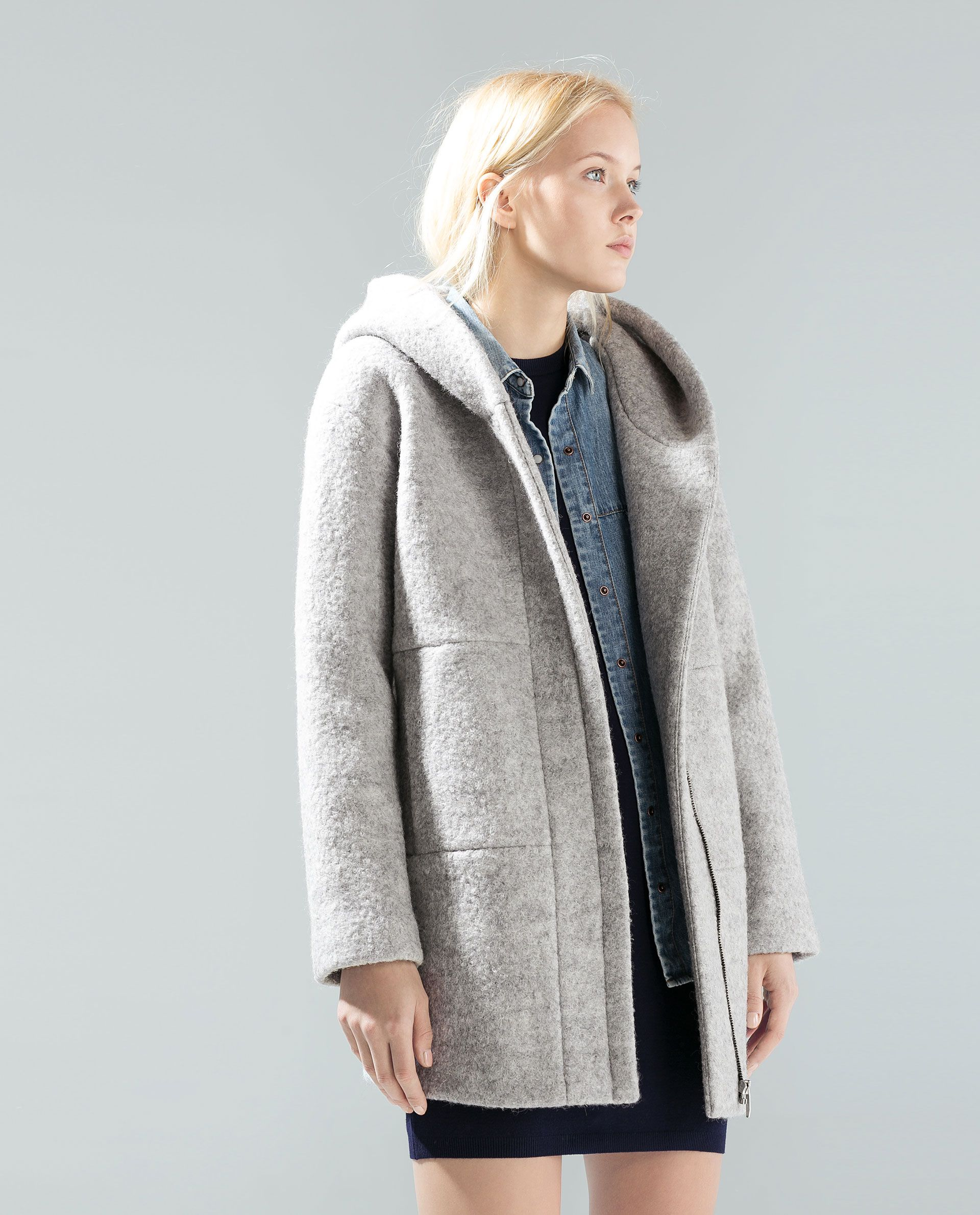 Womens Grey Hooded Jacket ShopStyle UK
