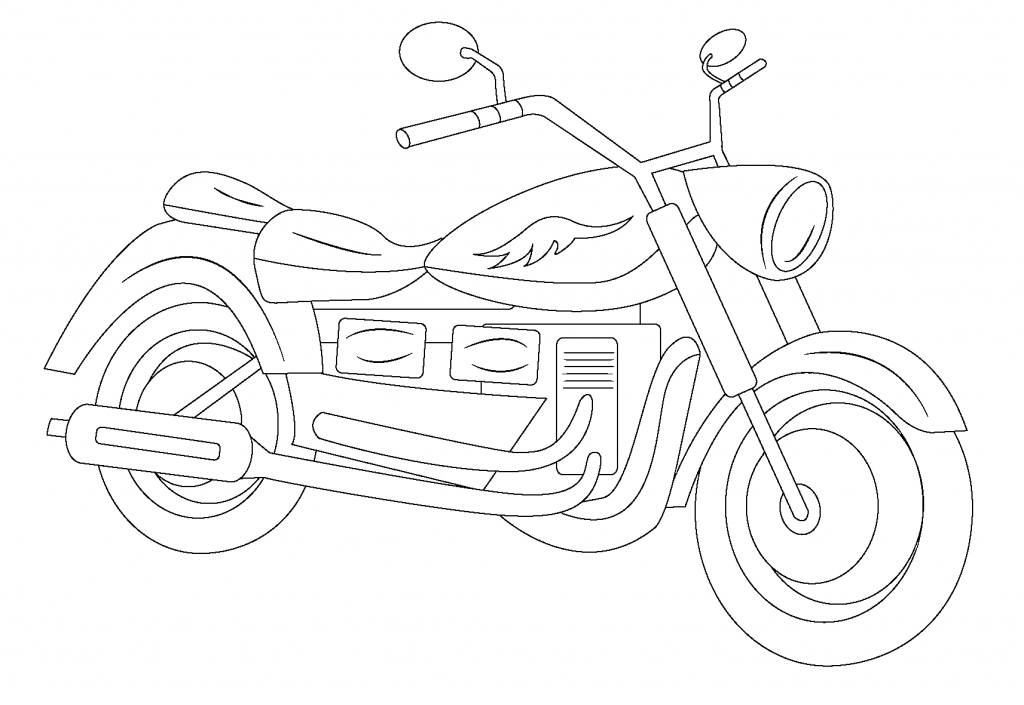 motorcycle line art  line drawings for digitizing