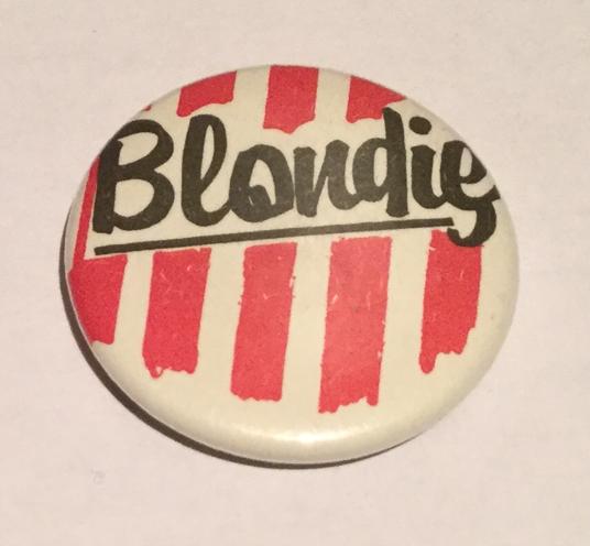 SET OF 3 BLONDIE DEBBIE HARRY VINTAGE INSPIRED BUTTON PIN BADGE