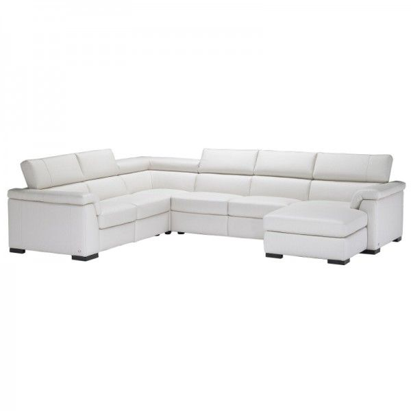 Natuzzi Editions Modena Leather Corner Sofa With Chaise