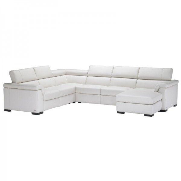 Natuzzi Editions Modena Leather Corner Sofa | Living Room ...