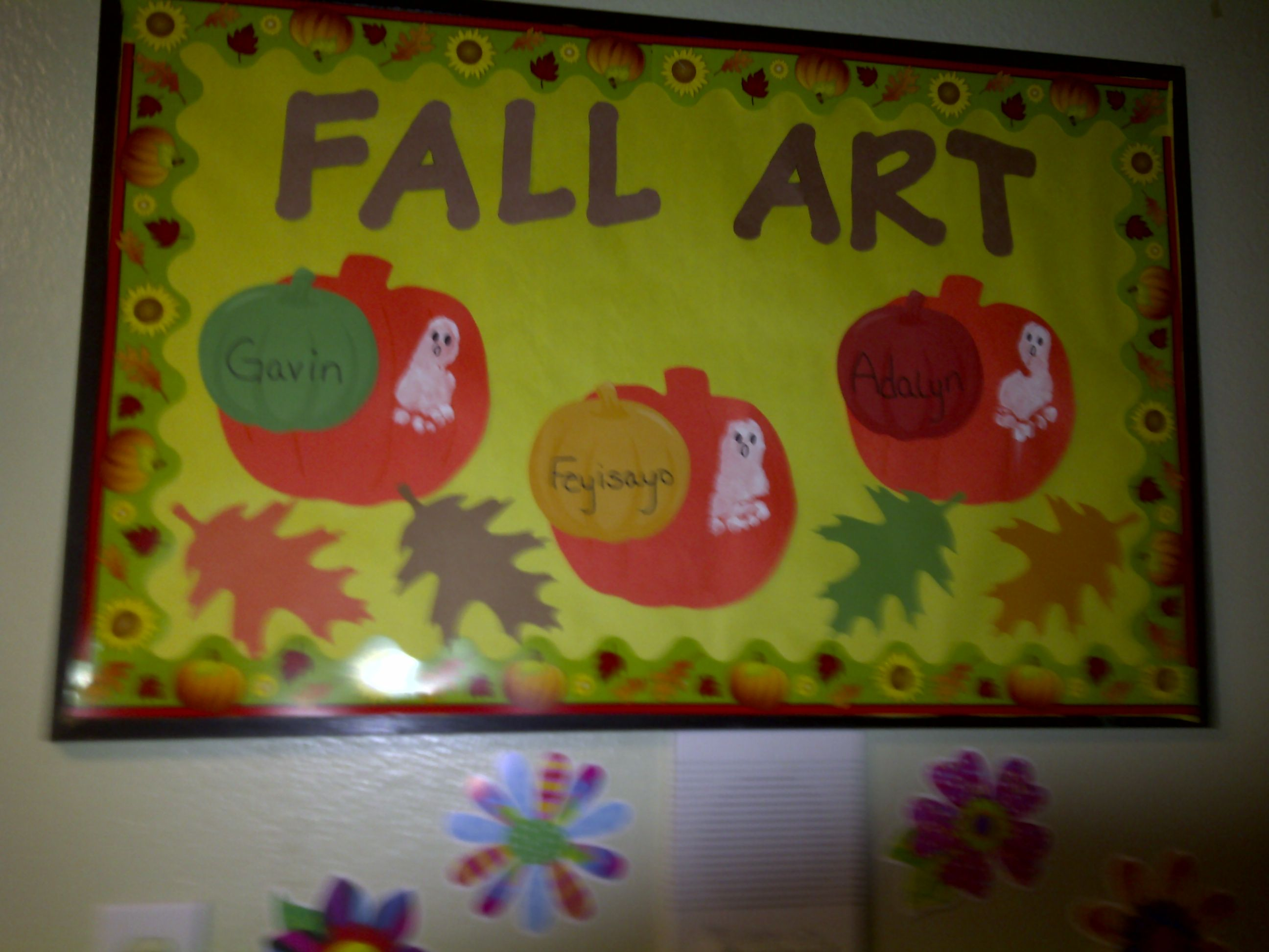 Fall Infant Bulletin Board Infant Bulletin Board Kids Art Projects Classroom Decorations