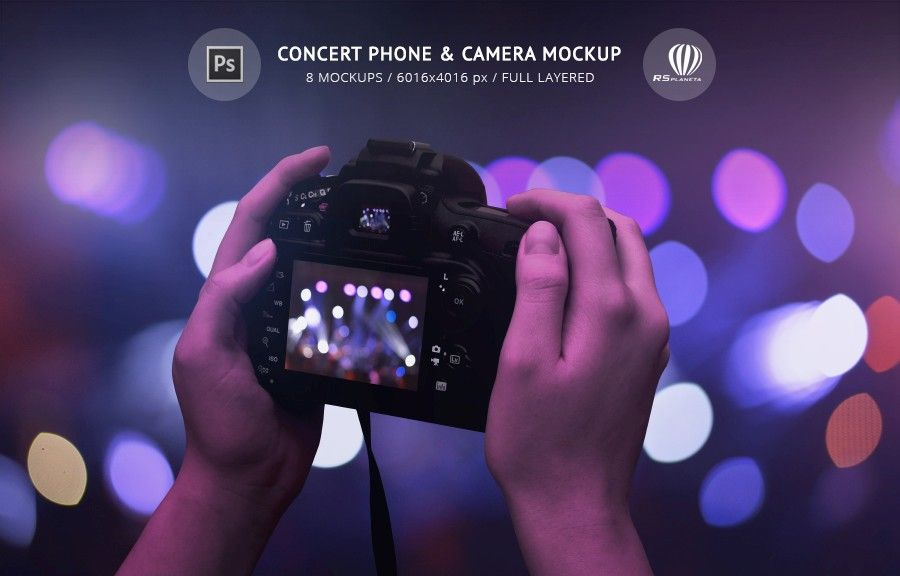Concert Phone Camera Mockup Is Creative Photoshop Psd Box Of High Resolution Full Isolated Layered Mockups For App O Mockup Creative Photoshop Concert