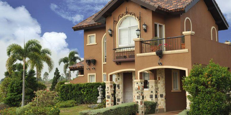 Modelo de casa de dos pisos estilo antiguo house stuff for Colores de casas modernas por fuera