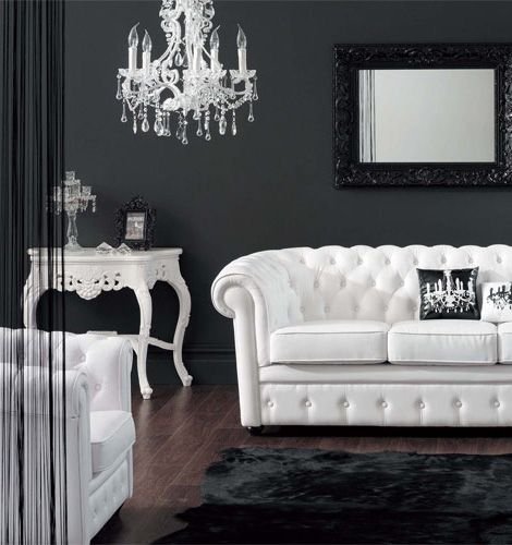 Inspiration - Baroque themed black and white decor and furniture. Love  black and white decor in the living room with a touch of red :) - Luscious Style: Boudoirs, Walk-in Wardrobes, Closets, Dressing