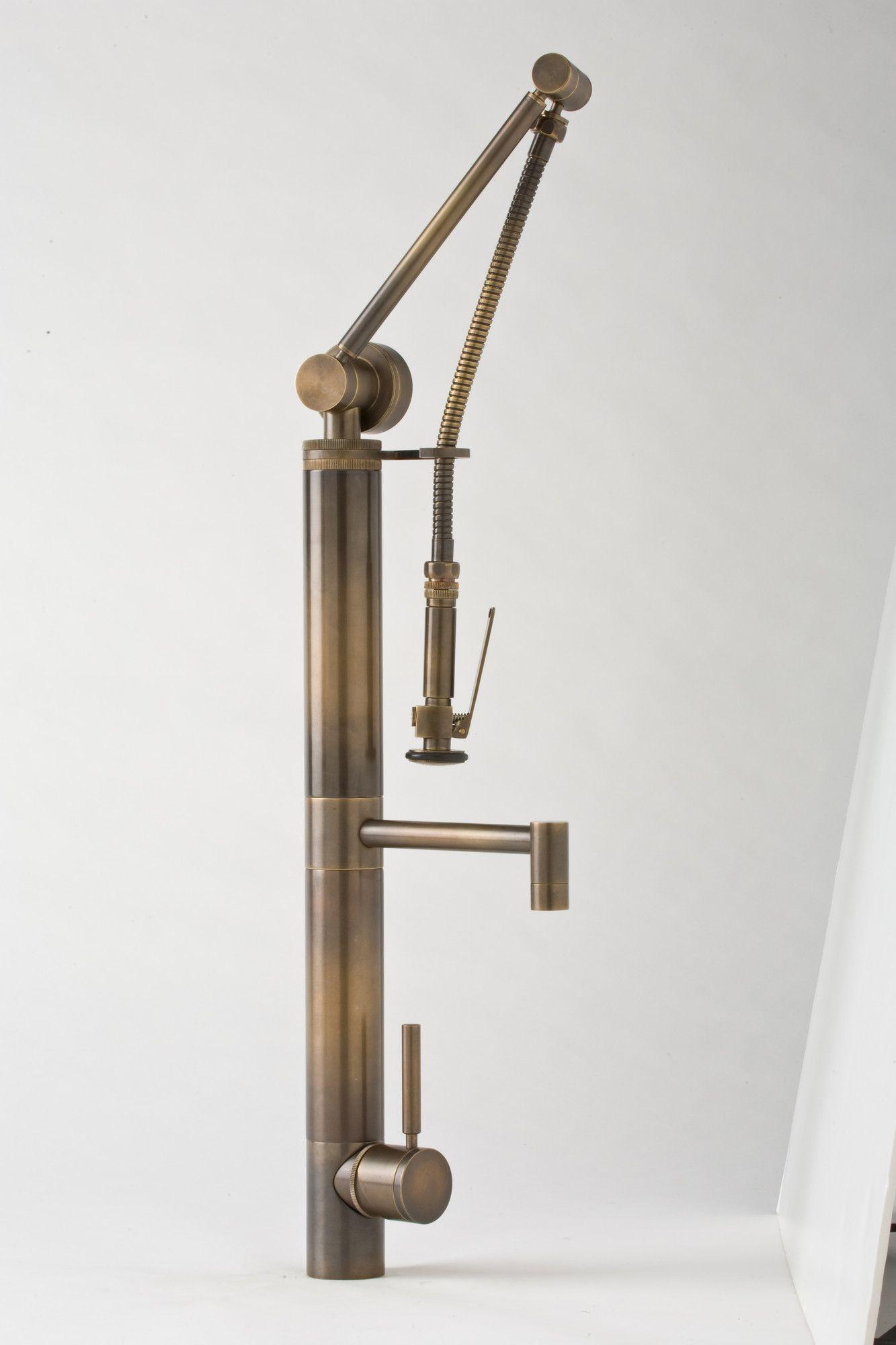 Waterstone Hunley Gantry Single Handle Single Hole Bar Faucet with Pre-Rinse Spray | AllModern