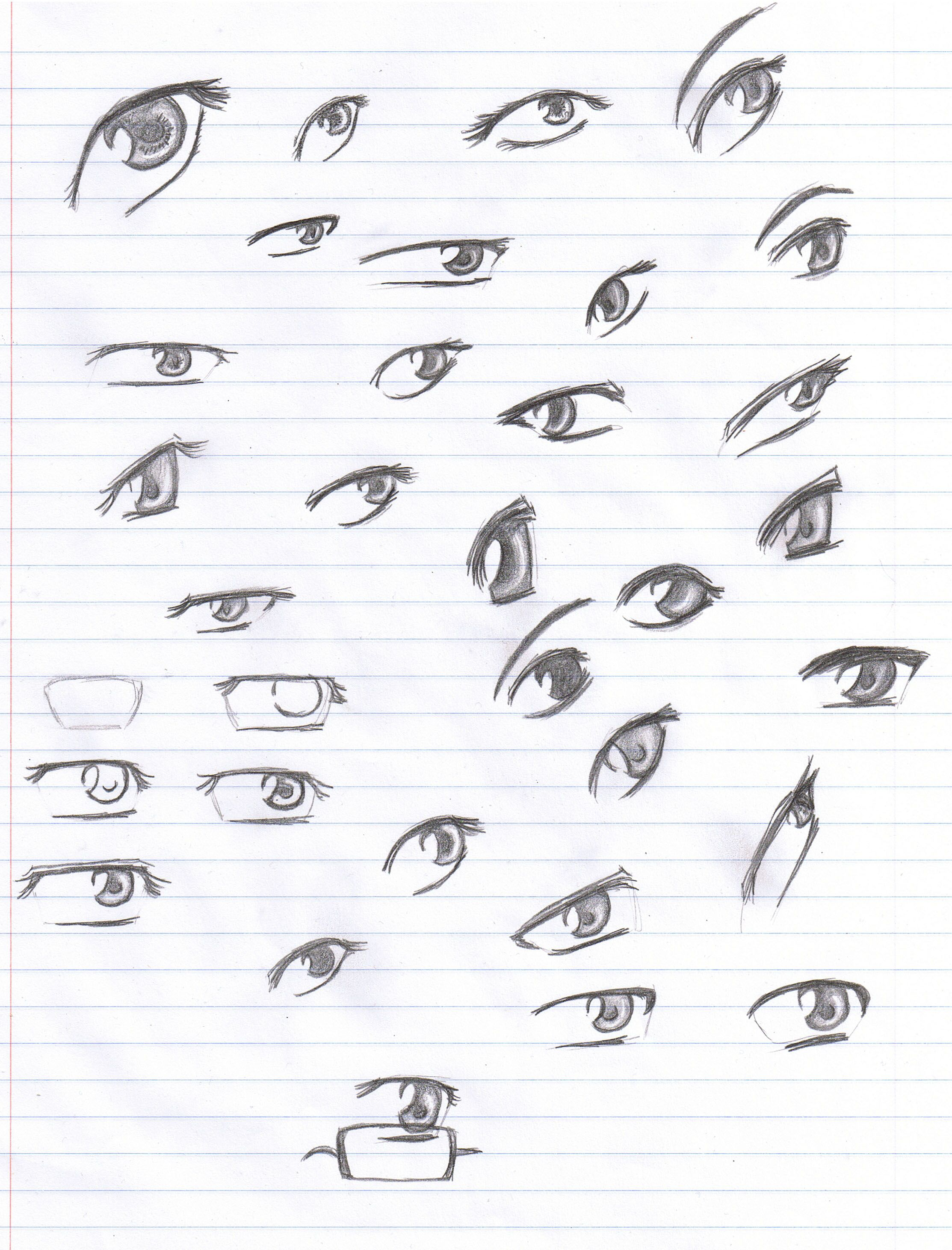 Anime Eyes Reference Pencil By Verie On Deviantart Anime Eyes Pencil Drawings Easy Eye Drawing