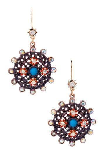 Medallion Drop Earrings.