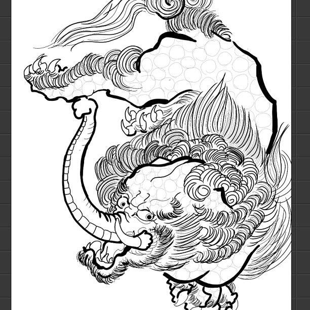 Baku Japanesetattoo Japanese Irezumi Sketch Drawing Art